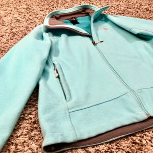 THE NORTH FACE TURQUOISE WINDWALL ZIP-UP FLEECE